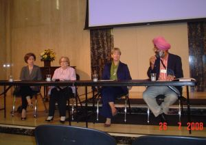 Nahid Angha, Rita Semel, Grace O'Brian, and Tarunjit Singh Butalia (moderator)